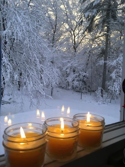 Making beeswax candles for Candlemas (Feb. 2nd)