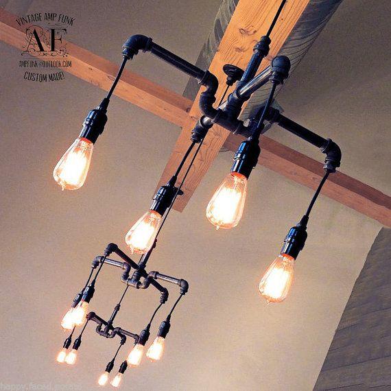 Industrial Lighting Rustic Chandelier Iron Pipe Ceiling: Best 25+ Edison Chandelier Ideas On Pinterest