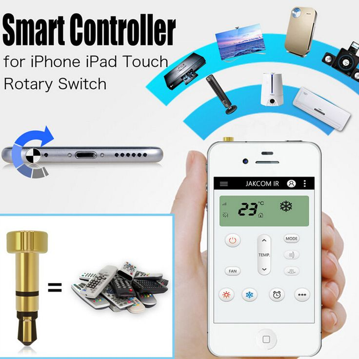 new for iphone/ipad/Touch Portable mini Pocket Mobile Phone Smart IR Remote Control For Air Conditioner TV DVD Projector