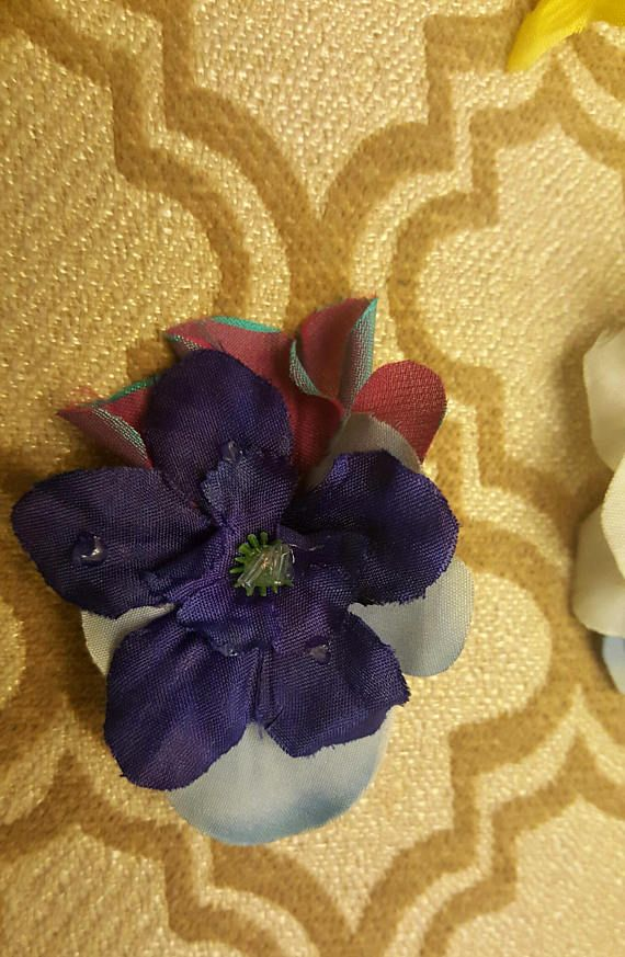 Morning dew flower hair clip bridal hair.