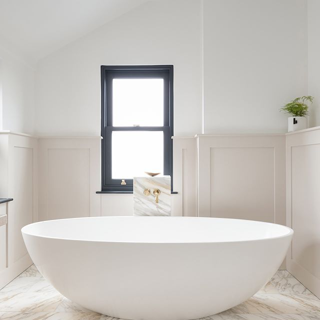 Loving The Sculptural Freestanding Bath And Beautiful Washstand In