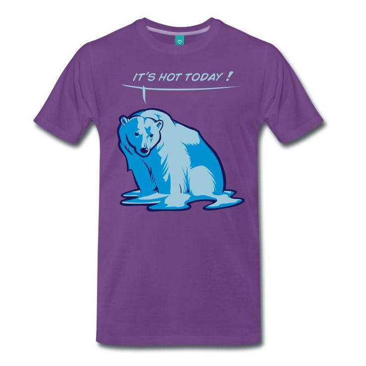 Svart Smelte bjørn T-skjorter - Premium T-skjorte for menn
