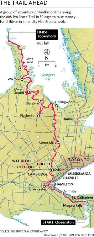 Walk it straight through..    Three Hamilton philanthropists take on the Bruce Trail | TheSpec.com