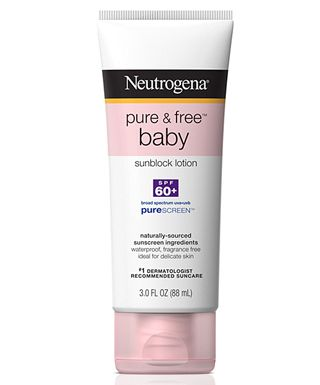 Strange but true: I use baby SPF on my face! This contains titanium dioxide and zinc oxide, two effective yet skin-friendly ingredients. Doesn't cause redness, burning, stinging. SPF isn't made with weird chemicals. Excellent for use on adult sensitive facial skin, and even body.