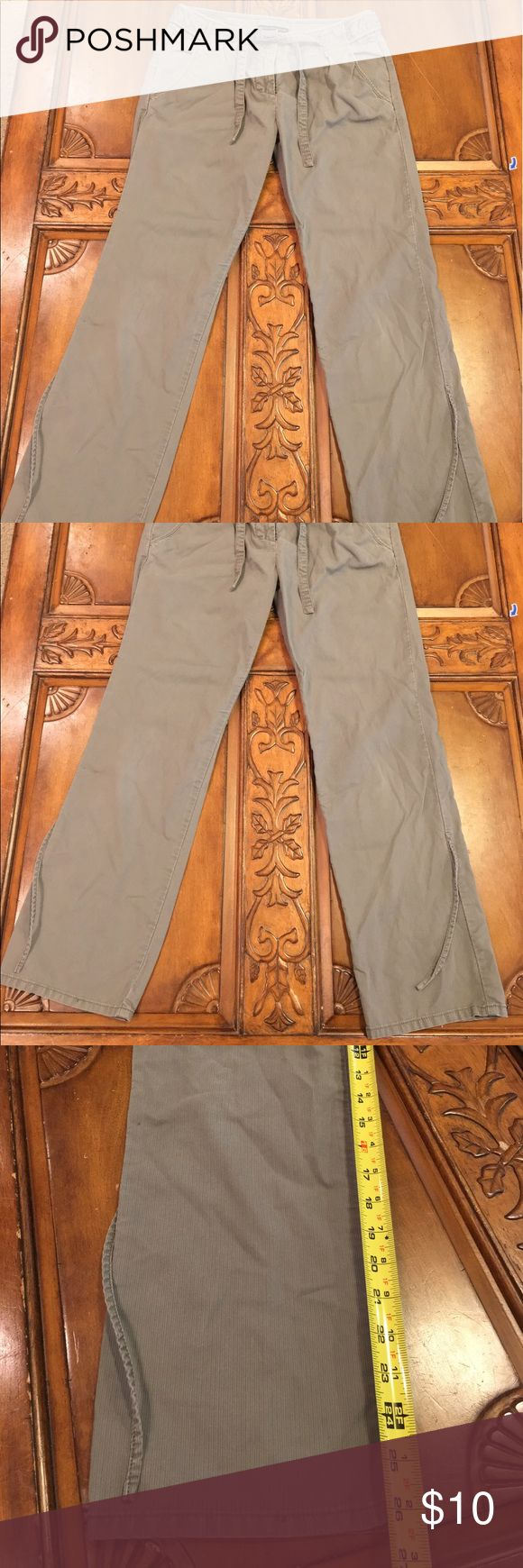 French Connection pants Taupe colored pants with a drawstring around the waist and adjustable legs. French Connection Pants Trousers
