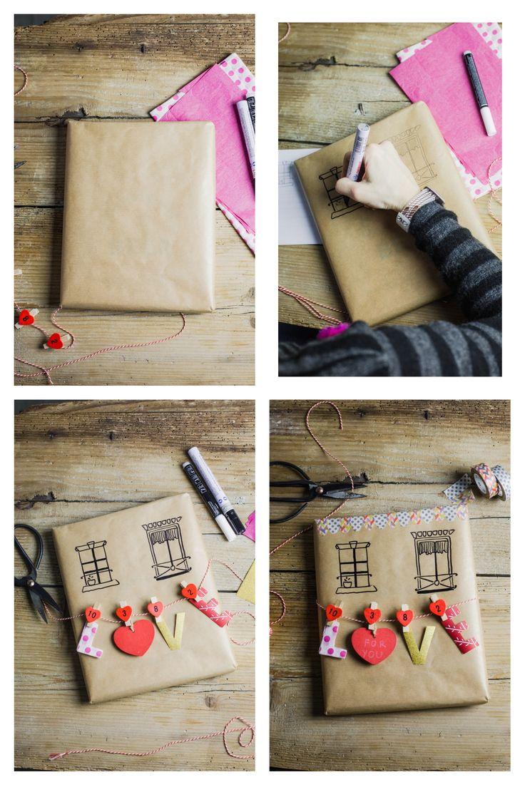 DIY Valentinstag Geschenk: Euer Ganz Persönliches Papierhaus