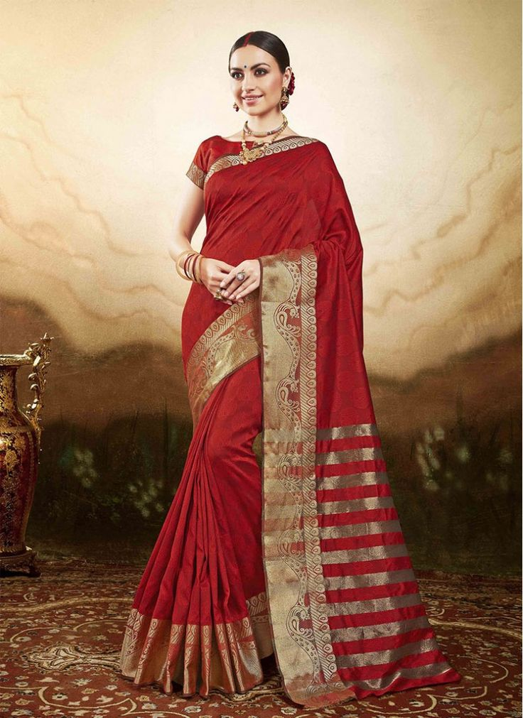 Silk Maroon Embroidered Designer Traditional Sarees