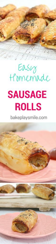 This is hands-down the best sausage roll recipe I've ever made. It's so easy! I usually make a big batch and freeze any leftovers. Yum! #easy #sausage #rolls #recipe #homemade