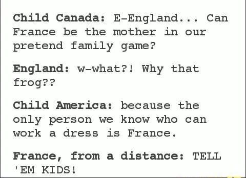 I don't ship fruk, but this is beautiful XD   England did work the nurse dress in the April Fool's even though