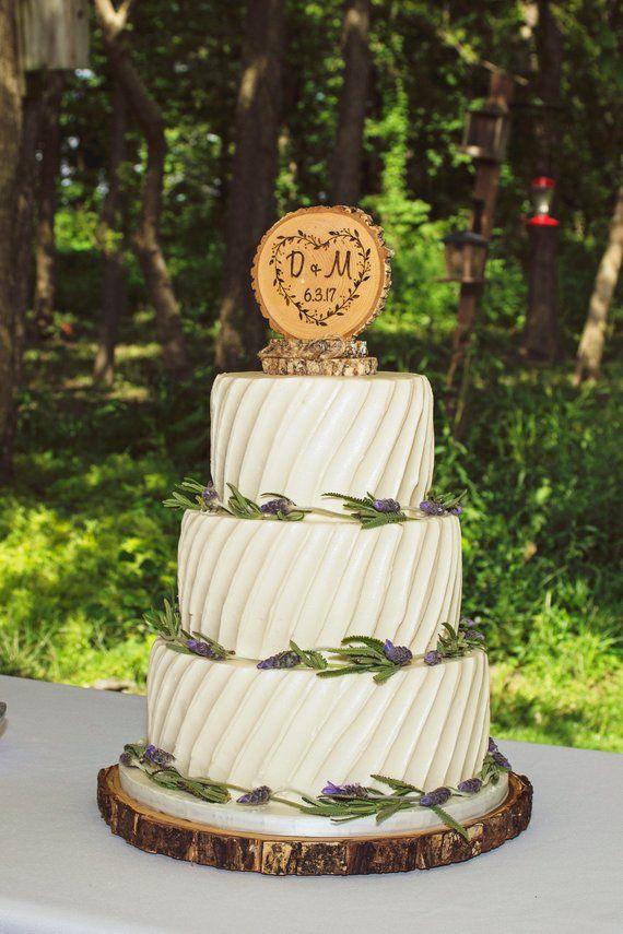 Rustic Wood Wedding Cake Topper Wood Slice Topper Custom Etsy Wood Wedding Cakes Wood Cake Topper Wedding Wood Cake Stand Wedding