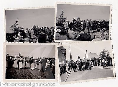 MARCHING BAND PARADE SCENE & POLITICAL SPEECH VINTAGE SNAPSHOT PHOTOS LOT