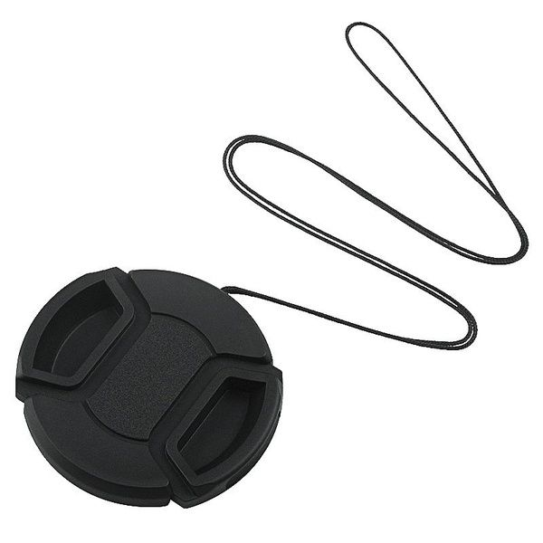 52mm Front Lens Cap Hood Cover Snap On With Cord For Nikon Canon Pentax Sony Lens Camera Lens Camera Nikon