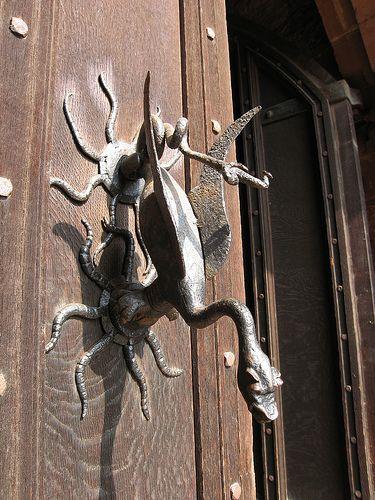 Door Knocker    Old door knocker on Powis Castle, Wales
