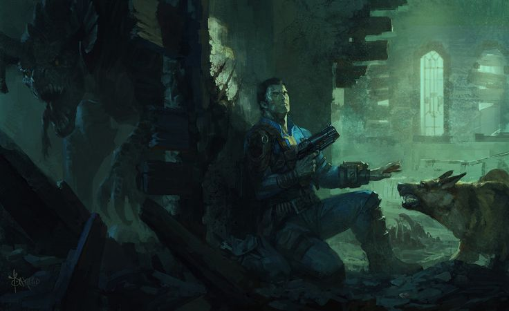 Fall Out 4 - Museum of Witchcraft by bayardwu, Digital Painting, Fan Art, Gaming, Fallout, Bethesda, Inspirational Art