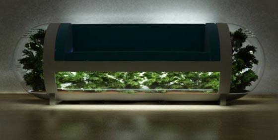 Green Pill, sofà hivernacle que neteja l'ambient on http://cat.quenergia.com l Lee el artículo en castellano: http://quenergia.com/medioambiente/green-pill-sofa-invernadero/