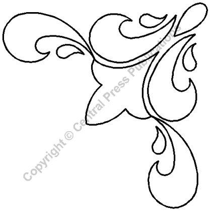 """Подбивка трафареты > Triagular & вентилятор - элемент: 6"""" Гармония """" на QuiltingCreations.com"""
