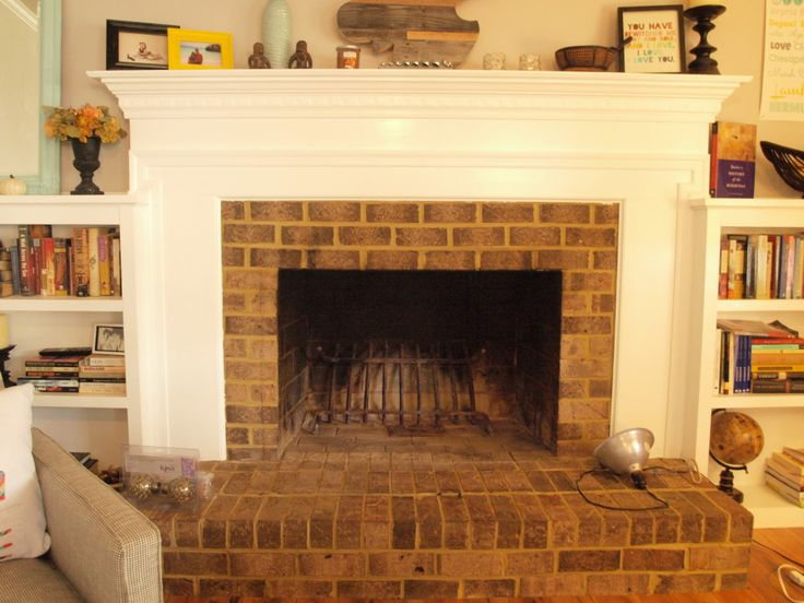 25+ best ideas about Brass Fireplace Makeover on Pinterest   Paint fireplace,  Brick fireplace mantles and Fireplace redo - 25+ Best Ideas About Brass Fireplace Makeover On Pinterest Paint