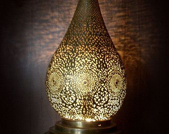 Handmade Moroccan Copper Chandelier, Intricate High Quality Perforated Arabesque Pattern