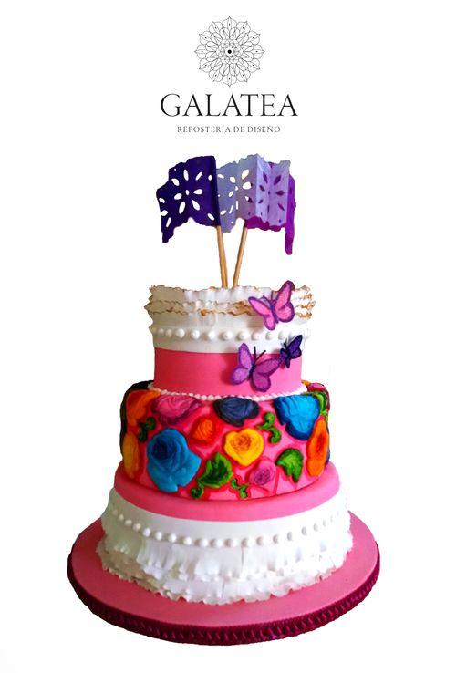 "#Tehuana #cake #colorful ""Tehuana"""