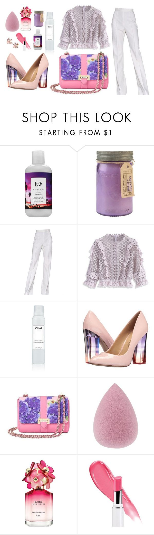 """Spring florals"" by lanagur on Polyvore featuring мода, R+Co, Paddywax, Jason Wu, Chicwish, Ouai, Aspinal of London, Marc Jacobs, Marchesa и Spring"