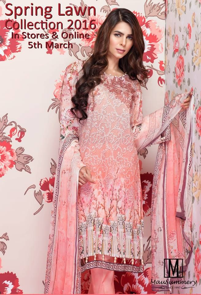 Mausummery Spring Lawn Collection 2016 for Girls