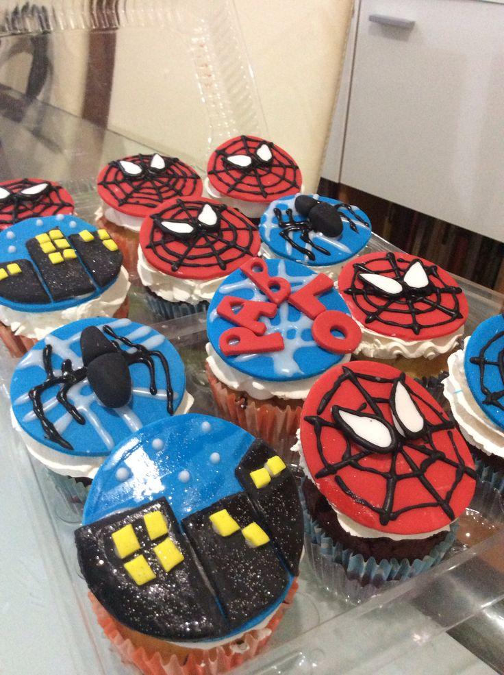 Cupcakes spider man
