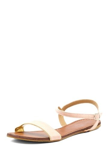 Open Toe Flat Sandal