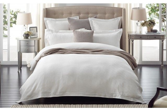 Sheridan Quilt. Love the simple fresh detail and nude throw
