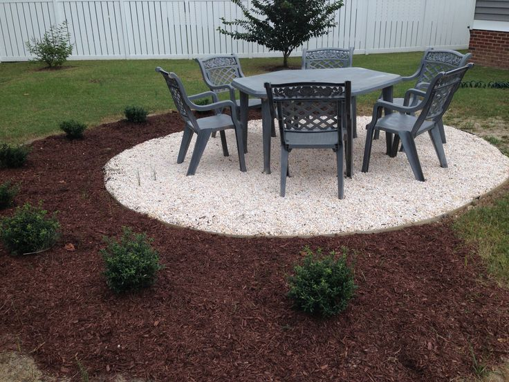 11 best images about fire pit area on pinterest gardens for Gravel fire pit area
