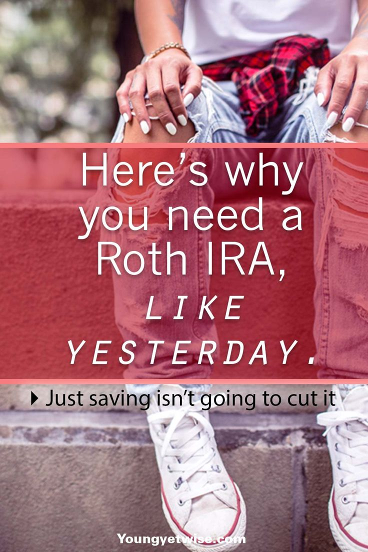 Why you need a roth IRA  like yesterday, saving your money isn't going to cut it. Investing is the only way you'll be able to reach your money goals faster this post really helped me understand Roth IRA's in simple terms. http://youngyetwise.com/you-need-a-roth-ira-saving-aint-gona-cut-it/