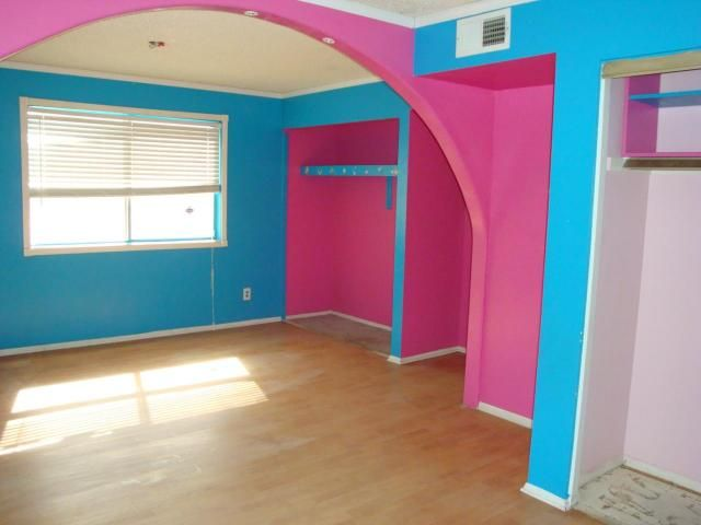 Pink And Blue Wall Paint