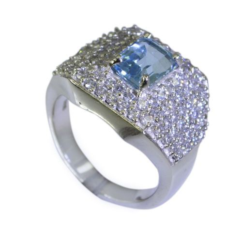 Riyo-Blue-Topaz-Indian-Silver-Jewelry-Ecclesiastical-Ring-Sz-7-Srbto7-10029