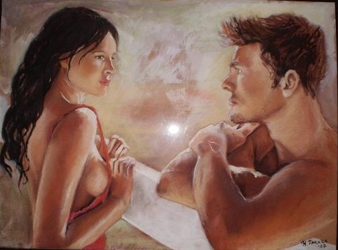 a pastel painting by Henna Takala