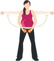 Grossesse et exercice: bras et épaules