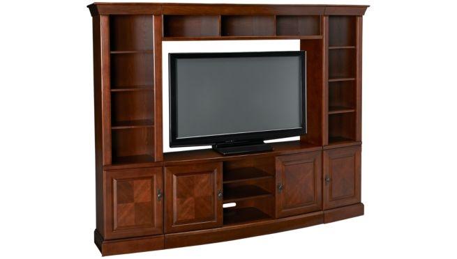 Oak Furniture West - Arlington - 4 Piece Entertainment Unit - Entertainment Centers for Sale in MA, NH and RI at Jordan's Furniture