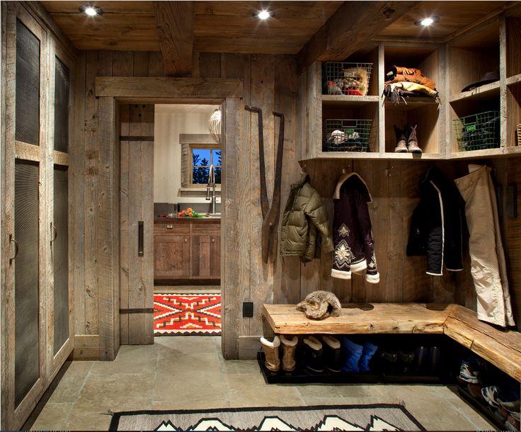 Ski Room/Mudroom, reclaimed wood