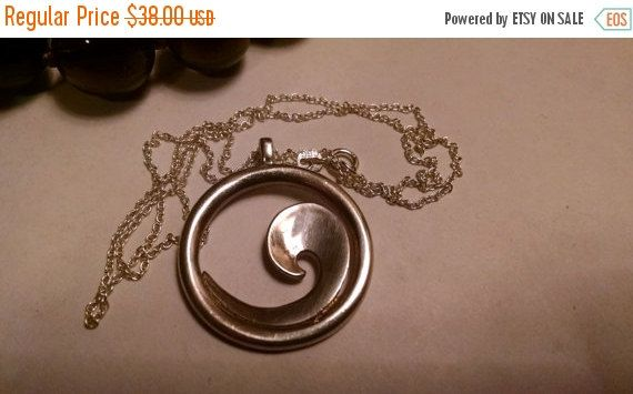 On Sale Today Heavy Vintage Wave Symbol Round Circle by Glamaroni