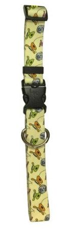 """Collar: BOLO Bounce Pattern. These beautiful dog collars are brand new at Dog is Good! They are manufactured by Yellow Dog and have special features:  Machine washable, color fast, and will not fade. Lightweight yet durable, perfect for active or outdoor dogs. Heat sealed, rolled edges that will not chafe or scratch your dogs skin. Special """"keeper"""" to hold the collar size when being worn. Quick clasp, side release buckle for easy on, easy off."""