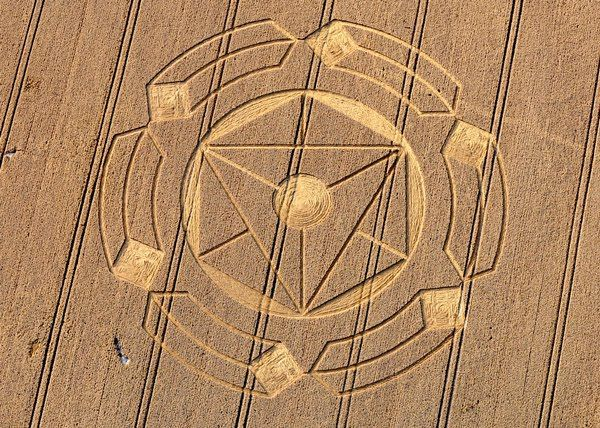The crop circle was found at Horton, Nr Devizes, Wiltshire. Horton is the same English gematria value as 'God is real'. 'Real Love'. http://academysounds.blogspot.com/2010/08/god-is-real-crop-circle.html Photograph copyright of Oliver Morel, courtesy of Crop Circle Connector. [2]