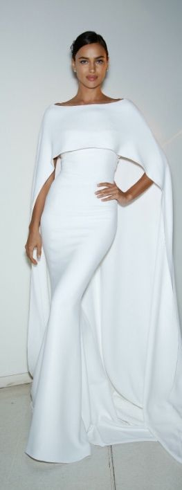 Here is another example of beatutiful draping and an amazing cape. Style can be for mature women but this look can be worn in a fresher way