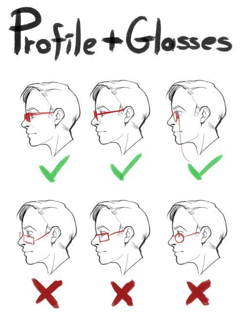 飾品 眼鏡畫法