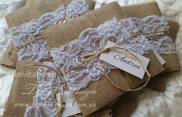 Burlap Wedding Invitations Diy: SEMI DIY Do It Yourself Burlap & Lace Wedding Invitations