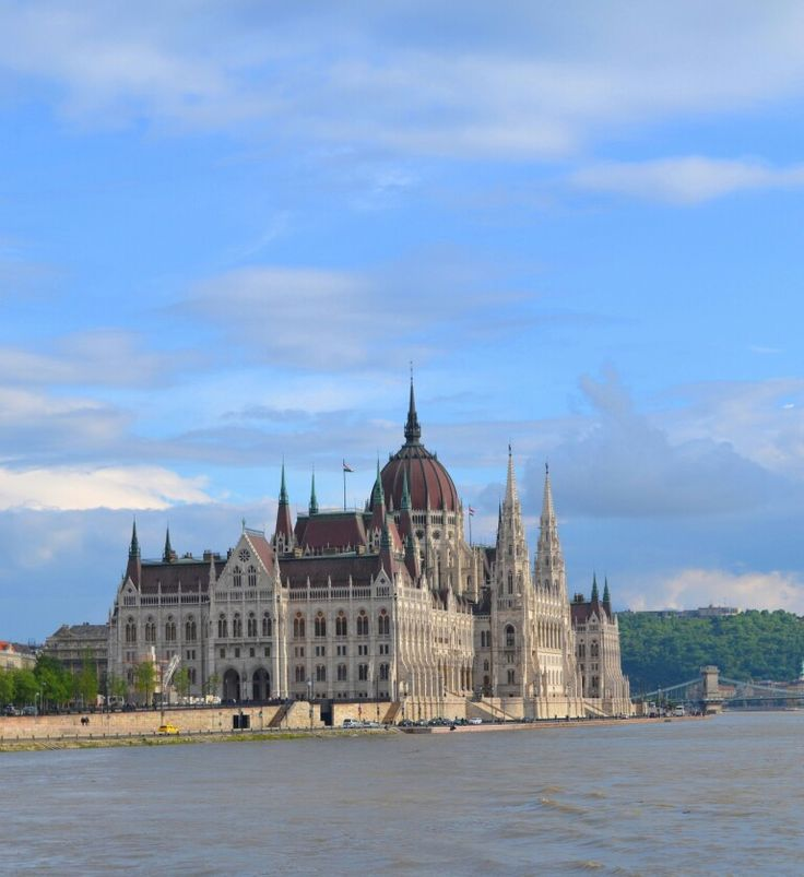 Hungarian Parliament Building from Buda side of Budapest. #fairy