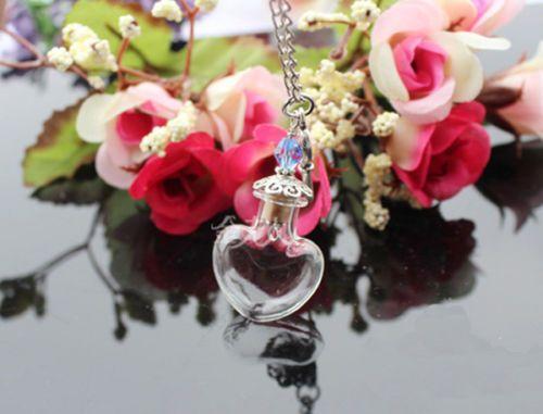 Пустые стеклянные бутылки глобус кулон ожерелье цепь Загадай желание ручной работы самодельный ювелирные изделия