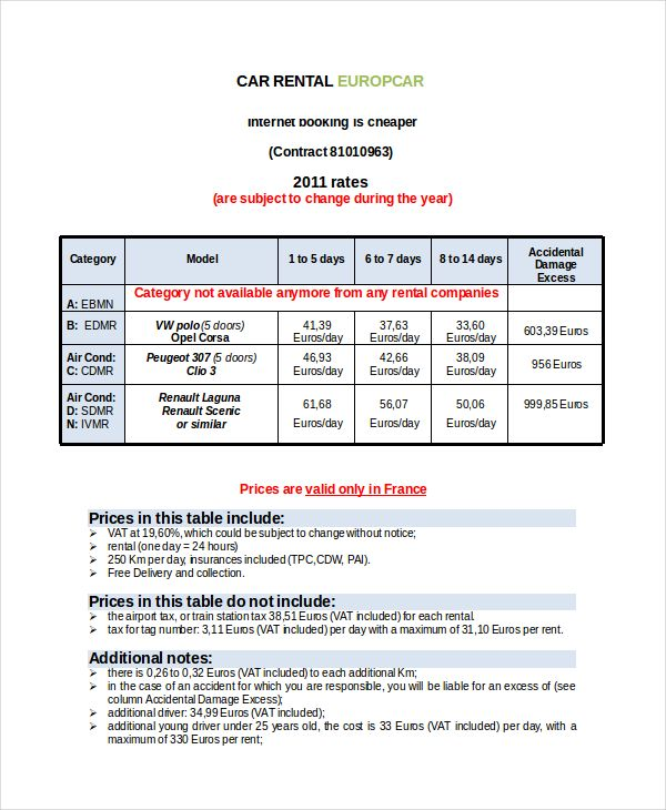 Car Rental Invoice Template Using The Rental Invoice Template In All Formats For Your Business The Invoice Template Word Invoice Template Receipt Template