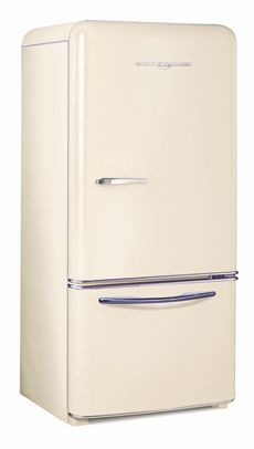 Bisque Northstar retro refrigerator by Elmira Stove Works.....omg they even have 'keg fridges'......