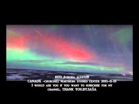 Hit Earth's magnetic field! RED Aurora alerts!!!!2015-11-15
