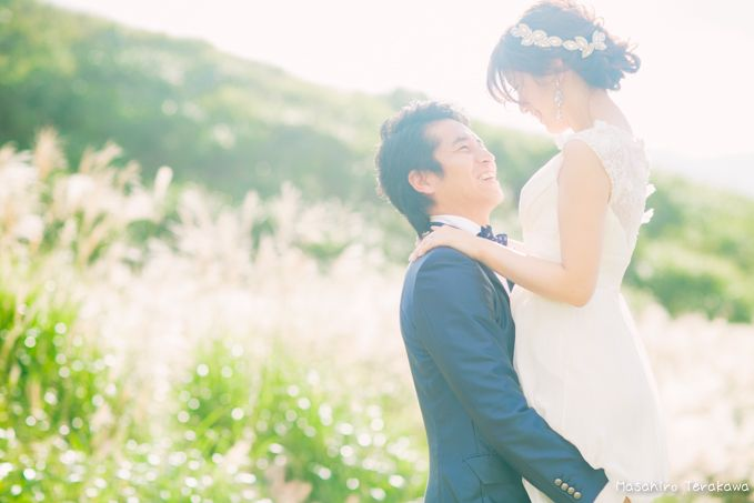 大自然の前撮り(ウェディングフォト)   結婚式の写真撮影 ウェディングカメラマン寺川昌宏(ブライダルフォト)