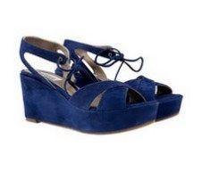 Splendour Blue suede high heel Italian sandals