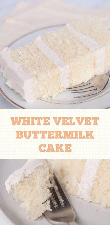 Vanilla Cake Recipe Homemade Easy In 2020 Buttermilk Cake Recipe Homemade White Cakes Homemade Cake Recipes